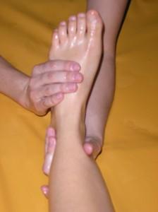 Fuß-und Beinmassage